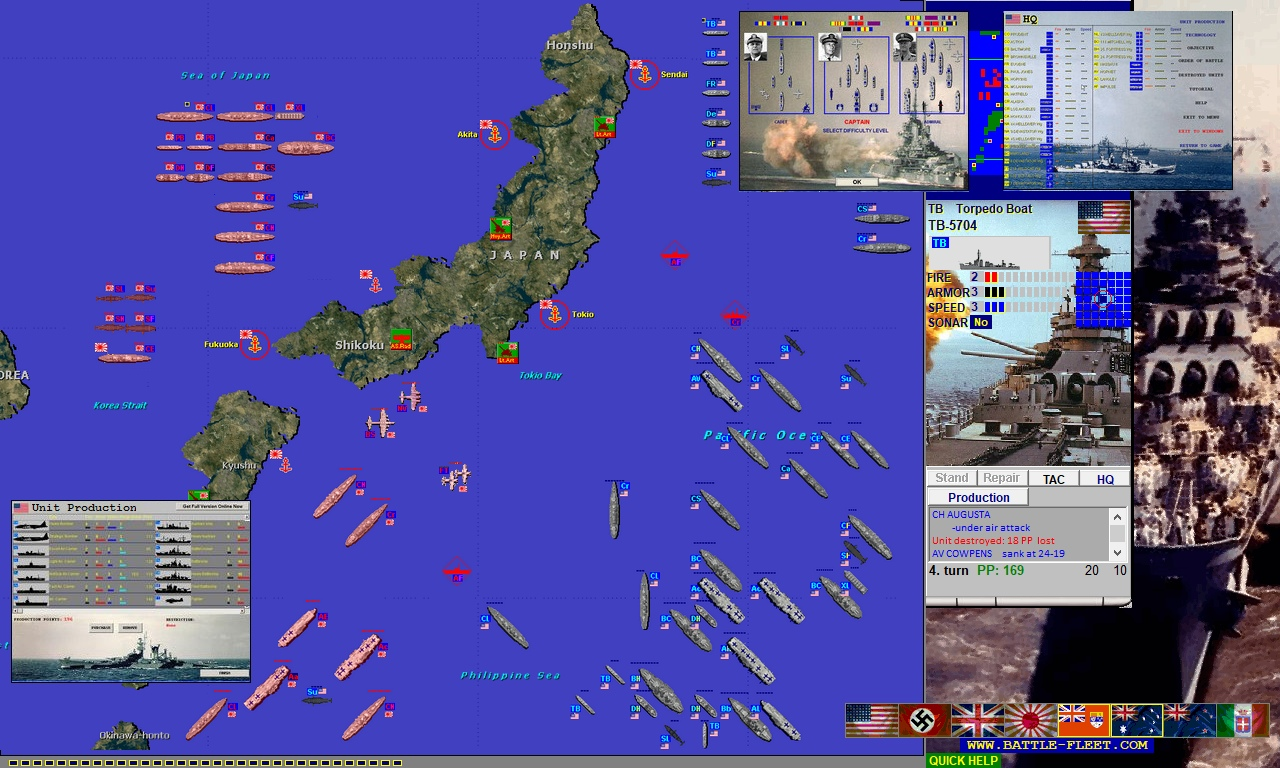 Naval strategy game, extension to the classic Battleship game: units can move!